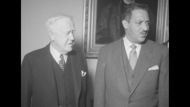 John W Davis Thurgood Marshall and others inside the Supreme Court VS exteriors of the building