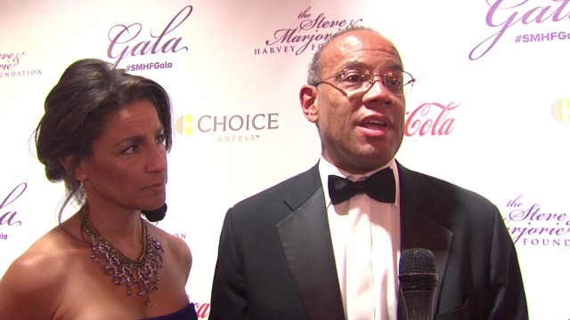 john w. rogers jr. says when you give young people opportunities, they can achieve anything, accepts the honor at the 2015 steve & marjorie harvey... - tamron hall stock videos & royalty-free footage