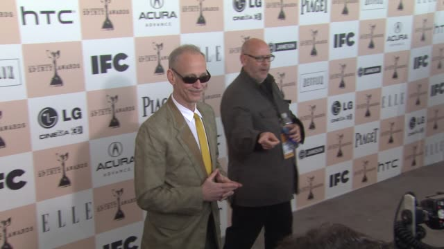 john waters at the 2011 independent spirit awards - arrivals part 2 at santa monica ca. - independent feature project stock videos & royalty-free footage