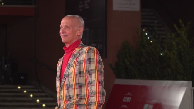 john waters attends the red carpet of john waters during the 15th rome film festival on october 17, 2020 in rome, italy. - rome film festival stock videos & royalty-free footage