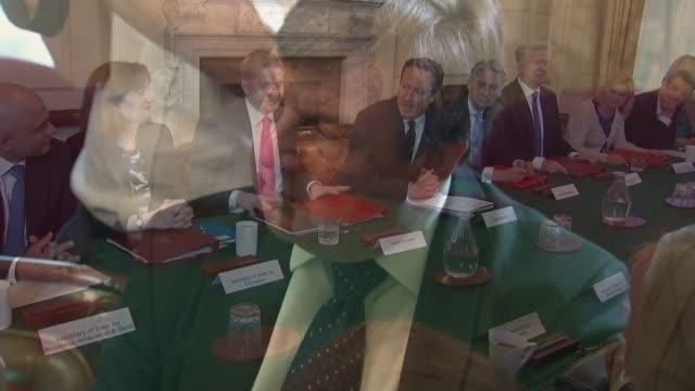 john whittingdale affair: relationship with press and media; lib: r12051510 / 12.5.2015 - freeze frame sir jeremy heywood seated alongside david... - jeremy heywood stock videos & royalty-free footage