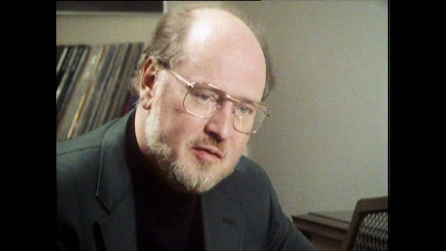 "john williams, speaking in 1984 on the differences between film directors and what they ask of him: ""some directors are very specific. they will say... - balding stock videos & royalty-free footage"