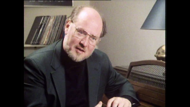"john williams, speaking in 1984 on whether he would enjoy working without an orchestra: ""i have scored some films with little mini groups and have... - balding stock videos & royalty-free footage"