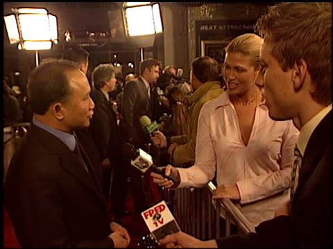 john woo at the 'paycheck' premiere at grauman's chinese theatre in hollywood california on december 18 2003 - payslip stock videos & royalty-free footage