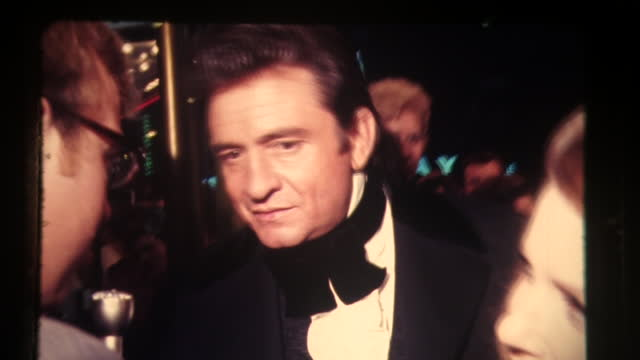 johnny cash attends film premiere of i walk the line, nashville tennessee - johnny cash stock videos & royalty-free footage