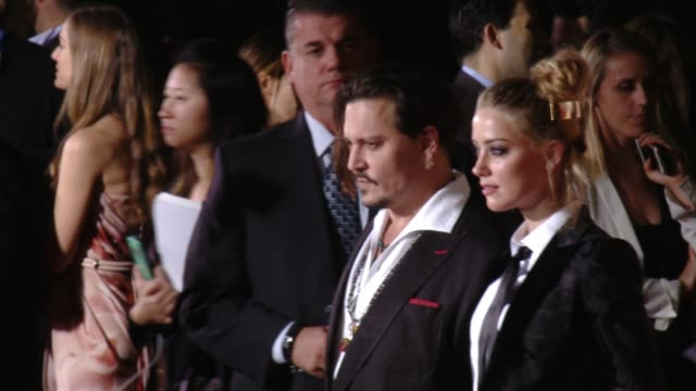 "Johnny Depp Amber Heard at ""The Danish Girl"" Los Angeles Premiere Presented by Focus Features in Los Angeles CA"
