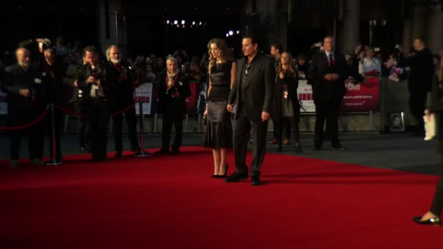 BROLL Johnny Depp Amber Heard Benedict Cumberbatch Sophie Hunter at 'Black Mass' Gala BFI London Film Festival at Odeon Leicester Square on October...