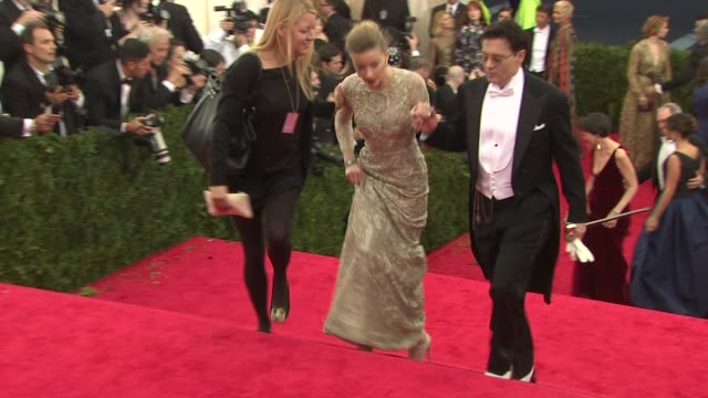Johnny Depp and Amber Heard at Charles James Beyond Fashion Costume Institute Gala Arrivals at The Metropolitan Museum on May 05 2014 in New York City