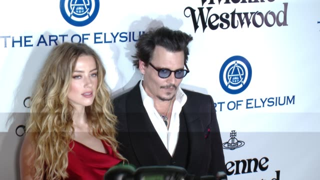 Johnny Depp and Amber Heard at the The Art of Elysium's Ninth Annual Heaven Gala at 3LABS on January 9 2016 in Culver City California