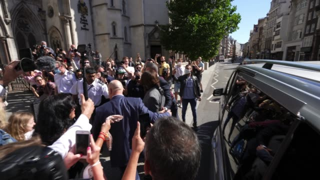 johnny depp arrives at royal courts of justice strand on july 21 2020 in london englandhollywood actor is taking news group newspapers publishers of... - sky only stock videos & royalty-free footage