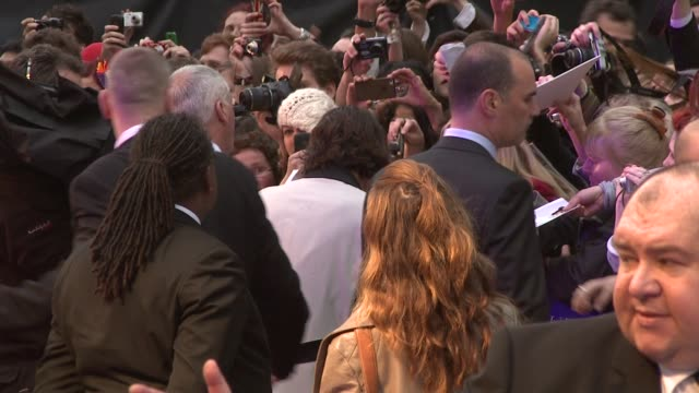 johnny depp at dark shadows: european premiere at empire leicester square on may 9, 2012 in london, england. - leicester square stock videos & royalty-free footage