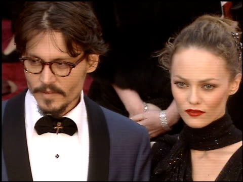 johnny depp at the 2005 academy awards at the kodak theatre in hollywood california on february 27 2005 - johnny depp stock videos and b-roll footage