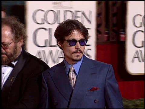 Johnny Depp at the 2005 Golden Globe Awards at the Beverly Hilton in Beverly Hills California on January 16 2005