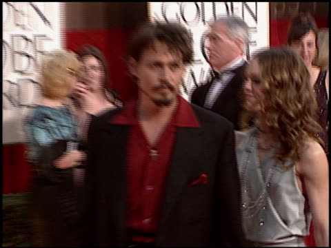 johnny depp at the 2006 golden globe awards at the beverly hilton in beverly hills california on january 16 2006 - johnny depp stock videos & royalty-free footage