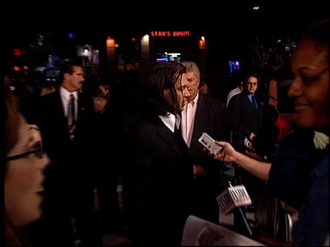 johnny depp at the 'from hell' premiere on october 17 2001 - johnny depp stock videos and b-roll footage