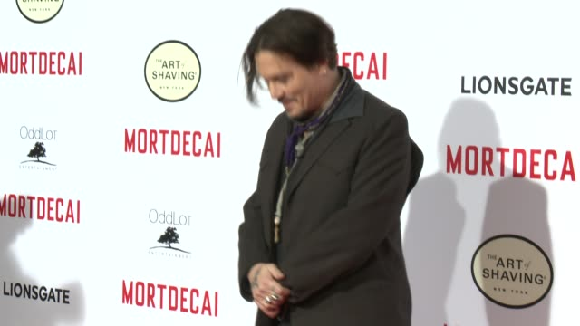 Johnny Depp at the Mortdecai Los Angeles Premiere at TCL Chinese Theatre on January 21 2015 in Hollywood California