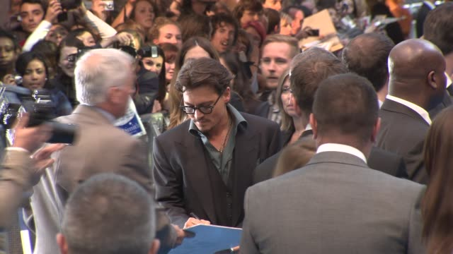 Johnny Depp at the Pirates of the Caribbean On Stranger Tides UK Premiere at London England