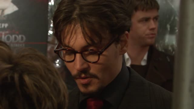 Johnny Depp at the 'Sweeney Todd The Demon Barber of Fleet Street' New York Premiere at Ziegfeld Theatre in New York New York on December 3 2007