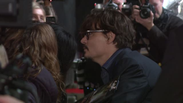 johnny depp at the the rum diary european premiere at london england - johnny depp stock videos & royalty-free footage