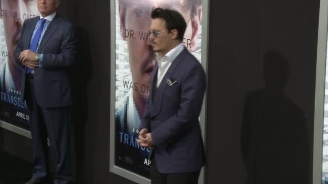 johnny depp at the transcendence los angeles premiere at regency village theatre on april 10 2014 in westwood california - regency style stock videos and b-roll footage