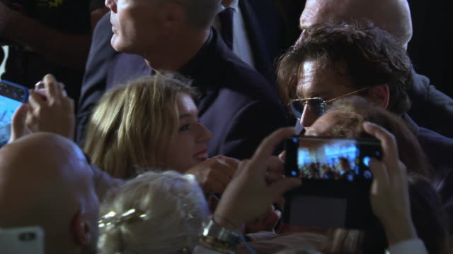 johnny depp at 'waiting for the barbarians' red carpet arrivals 76th venice film festival' on september 06 2019 in venice italy - 76th venice film festival 2019点の映像素材/bロール