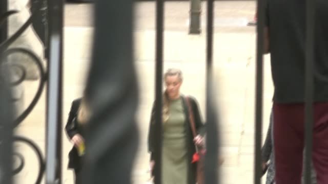 amber heard's sister gives evidence england london royal courts of justice ext whitney henriquez arriving at side entrance of court - news not politics stock videos & royalty-free footage