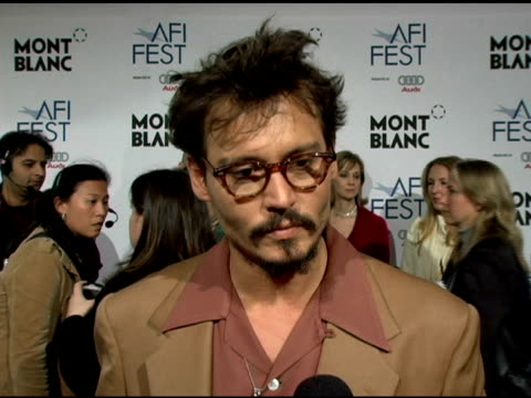 Johnny Depp on his character the challenges of the movie and his upcoming projects at the 'The Libertine' World Premiere at Arclight Cinemas in...