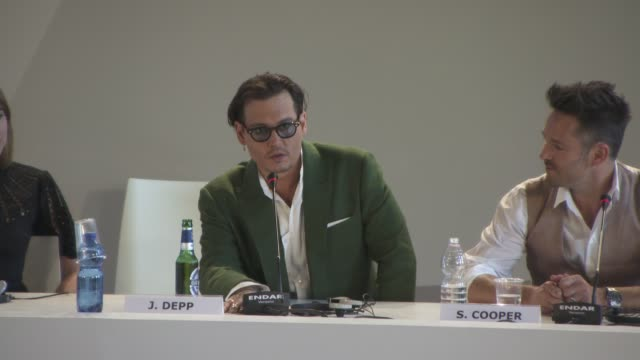 interview johnny depp on his fans at 'black mass' press conference on september 04 2015 in venice italy - johnny depp stock videos and b-roll footage