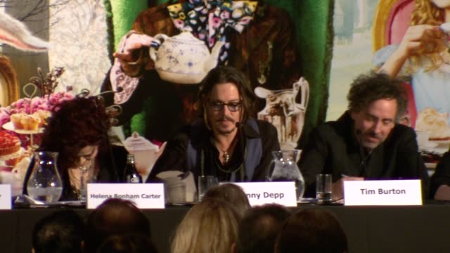 Johnny Depp on his favourite mad person in the world being Tim Burton at the Alice in Wonderland Press Conference at London England