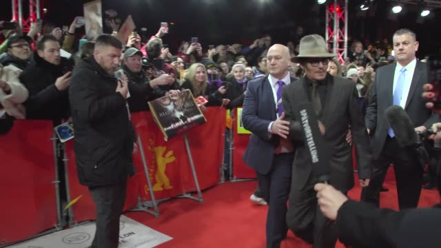 johnny depp on the red carpet at friedrichstadt palast on february 21 2020 in berlin germany - johnny depp stock videos & royalty-free footage