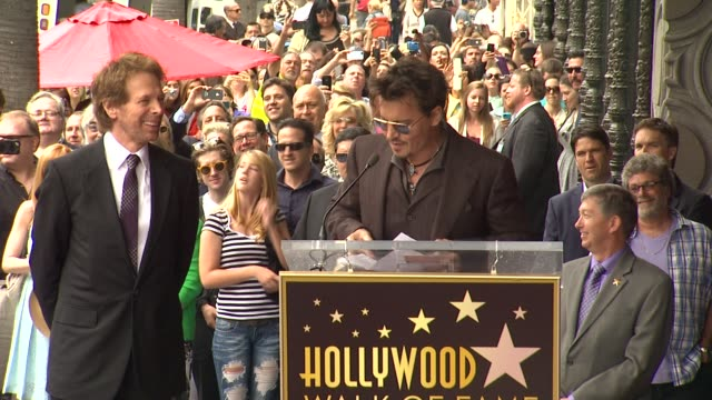 SPEECH Johnny Depp on working with his friend Jerry Bruckheimer at Jerry Bruckheimer Honored with Star on the Hollywood Walk of Fame in Hollywood CA...