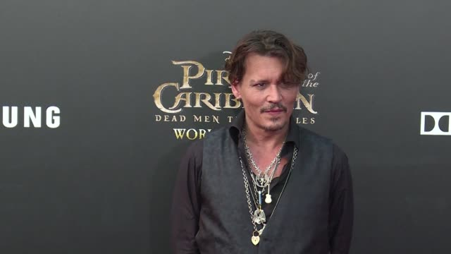 johnny depp orlando bloom and javier bardem hit the red carpet for the world premiere of latest pirates of the caribbean film in shanghai - javier bardem stock videos and b-roll footage