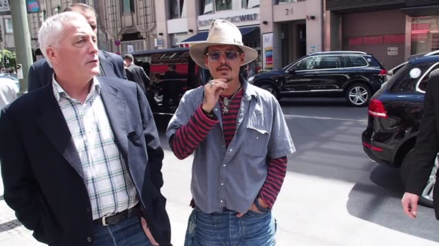 johnny depp outside restaurant borchardt johnny depp outside restaurant borchardt on july 20 2013 in berlin federal republic of germany - johnny depp stock videos and b-roll footage