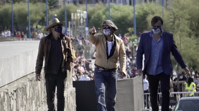 johnny depp, stephen deuters, julien temple attends 'crock of gold: a few rounds with shane macgowan' photocall during the 68th san sebastian... - julien temple stock videos & royalty-free footage