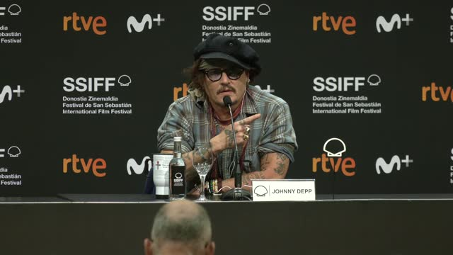 ESP: Johnny Depp - Donostia Award Press Room - 69th San Sebastian Film Festival