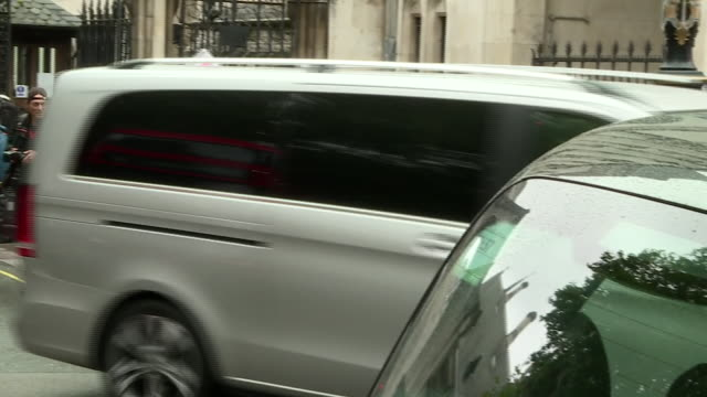 johnny depp's car leaving court after day 2 of his libel trial against the sun newspaper - amber heard stock videos & royalty-free footage