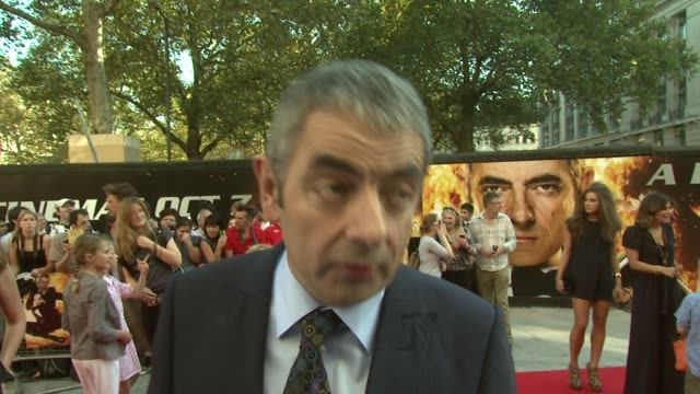 johnny english reborn uk premiere at empire leicester square on october 02, 2011 in london, england - leicester square stock videos & royalty-free footage