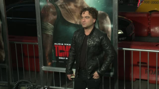 Johnny Galecki at the 'Tomb Raider' Premiere at TCL Chinese Theatre on March 12 2018 in Hollywood California