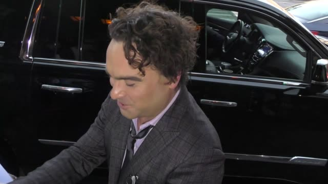 INTERVIEW Johnny Galecki discusses Roseanne ratings as he arrives at California Fire Foundation's 5th Annual Gala at Avalon in Hollywood in Celebrity...