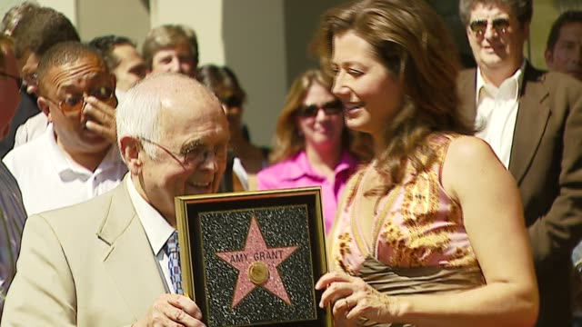 Johnny Grant and Amy Grant at the Amy Grant Hollywood Walk of Fame Star at Hollywood Boulevard in Hollywood California on September 19 2006