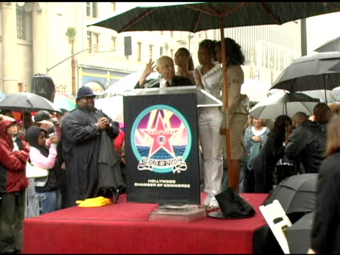 johnny grant and destiny's child at the dedication of destiny's child's star on walk of fame at hollywood boulevard in hollywood, california on march... - destiny's child stock-videos und b-roll-filmmaterial