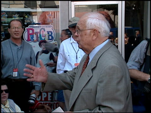 johnny grant at the dedication of james brolin's hollywood walk of fame star at 7018 hollywood blvd in los angeles, california on august 27, 1998. - james brolin stock videos & royalty-free footage
