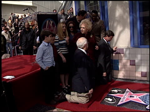 johnny grant at the dediction of doris roberts's walk of fame star at the hollywood walk of fame in hollywood, california on february 10, 2003. - doris roberts stock videos & royalty-free footage