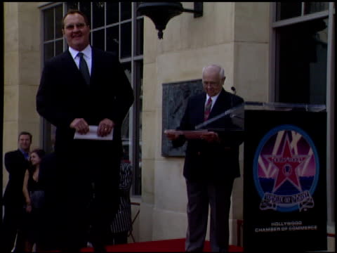 johnny grant at the dediction of randy quaid's walk of fame star at the hollywood walk of fame in hollywood, california on october 7, 2003. - randy quaid stock videos & royalty-free footage