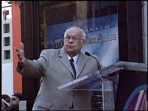 johnny grant at the dediction of robert zemeckis' walk of fame star at the hollywood walk of fame in hollywood california on november 5 2004 - robert zemeckis stock videos and b-roll footage