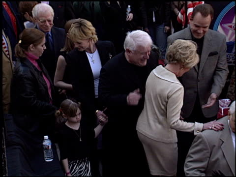 johnny grant at the dediction of tippi hedren's walk of fame star at the hollywood walk of fame in hollywood california on january 30 2003 - tippi hedren stock videos and b-roll footage