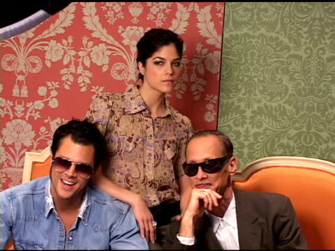Johnny Knoxville Selma Blair and John Waters at the 2004 Toronto International Film Festival 'A Dirty Shame' Portraits at Intercontinental in Toronto...