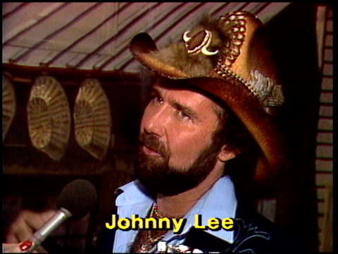Johnny Lee talks about a Jackson Browne concert Johnny Lee interview on January 01 1981 in Los Angeles California