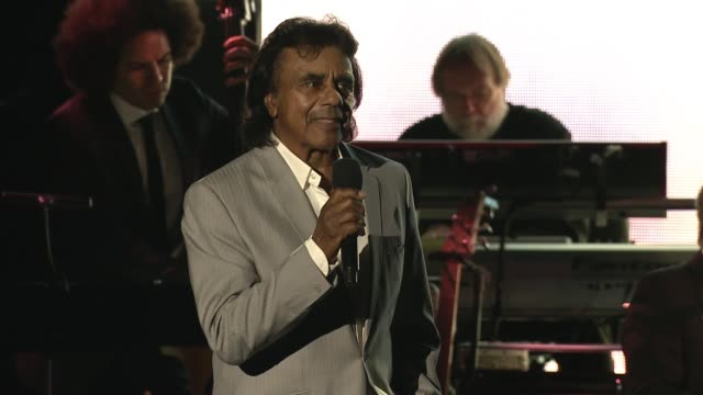 PERFORMANCE Johnny Mathis at the George Clooney Hosts MPTF's 95th Anniversary Celebration on October 1 2016 in Woodland Hills California