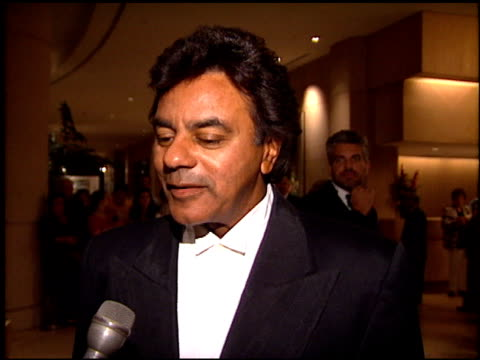 Johnny Mathis at the Weizmann Award Honoring Spielberg at the Bevely Hilton Hotel in Beverly Hills California on October 1 1994